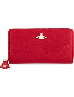 VIVIENNE WESTWOOD Divina saffiano zip-around wallet