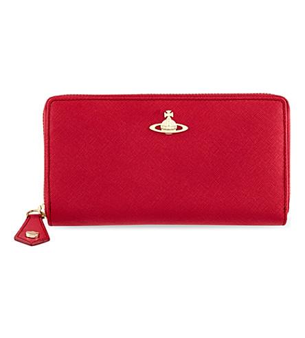 VIVIENNE WESTWOOD Divina saffiano zip-around wallet (Fuxia