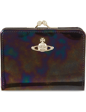 VIVIENNE WESTWOOD Cara oilslick patent leather purse