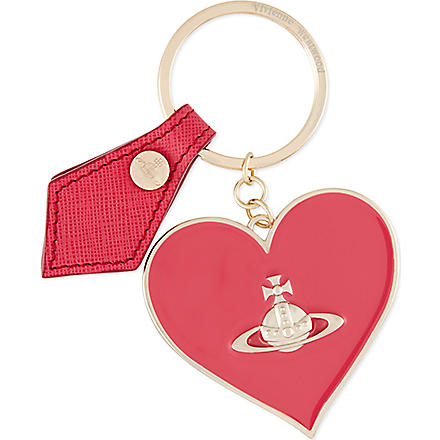 VIVIENNE WESTWOOD Heart keyring (Fuxia