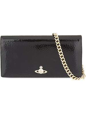 VIVIENNE WESTWOOD Apollo patent leather purse with chain