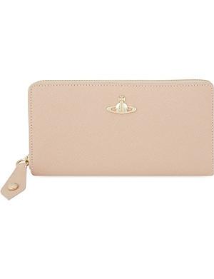VIVIENNE WESTWOOD Saffiano leather zip around purse