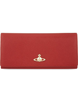 VIVIENNE WESTWOOD Saffiano leather longline purse