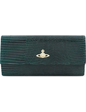 VIVIENNE WESTWOOD Long foldover leather wallet