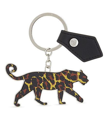 VIVIENNE WESTWOOD Leopard key ring (Black