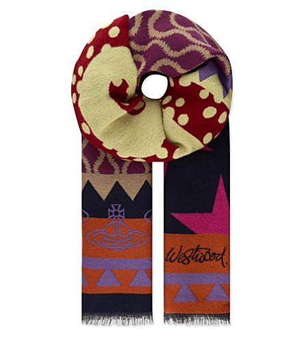 VIVIENNE WESTWOOD Plus 5 scarf (Navy