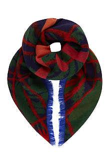 VIVIENNE WESTWOOD Tartan orb scarf