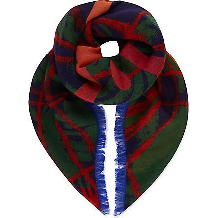 VIVIENNE WESTWOOD Tartan orb scarf (Blue