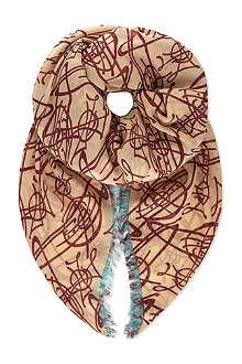 VIVIENNE WESTWOOD Graffiti orb scarf