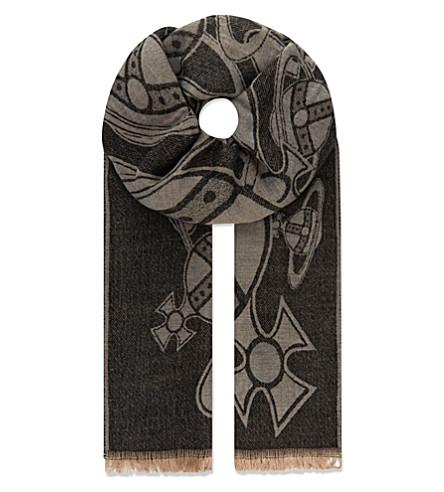 VIVIENNE WESTWOOD Sketch orb scarf (Black