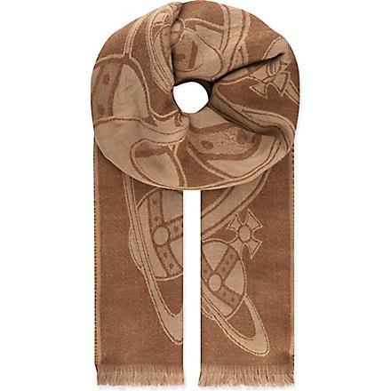 VIVIENNE WESTWOOD Sketch orb scarf (Camel