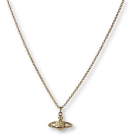 VIVIENNE WESTWOOD JEWELLERY Mini Bas Relief Orb pendant (Jonquil