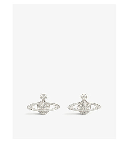 VIVIENNE WESTWOOD JEWELLERY Bas relief orb earrings (Silver