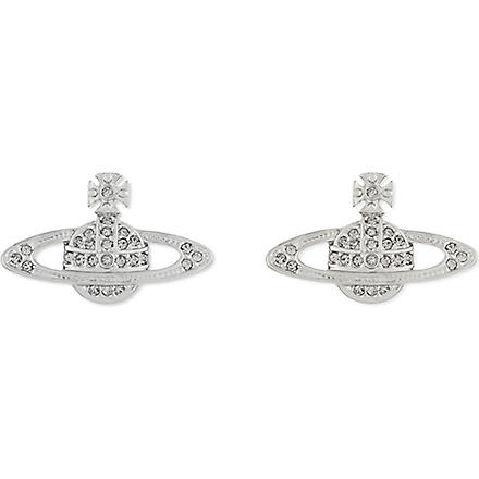 VIVIENNE WESTWOOD JEWELLERY Bas Relief Orb stud earrings (Silver