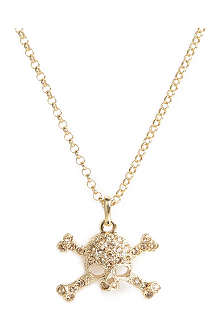 VIVIENNE WESTWOOD Diamante skull pendant necklace