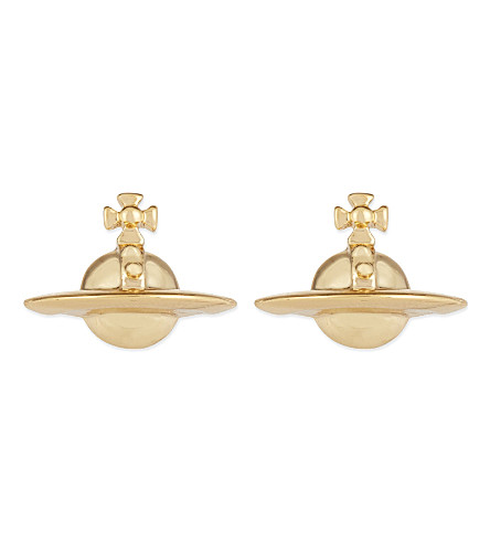 VIVIENNE WESTWOOD JEWELRY Solid orb earrings (Gold