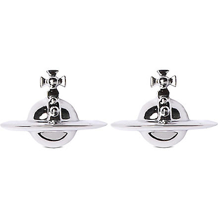 VIVIENNE WESTWOOD Solid orb earrings (Rhodium