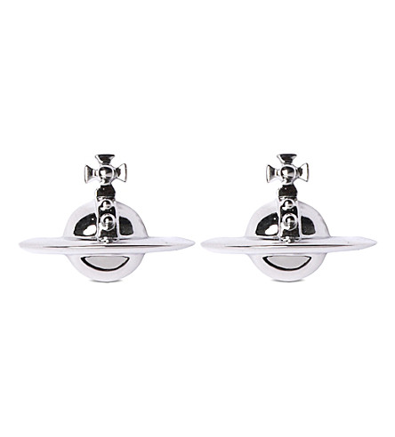 VIVIENNE WESTWOOD JEWELLERY Solid orb earrings (Rhodium
