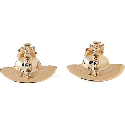 VIVIENNE WESTWOOD Solid orb stud earrings (Gold