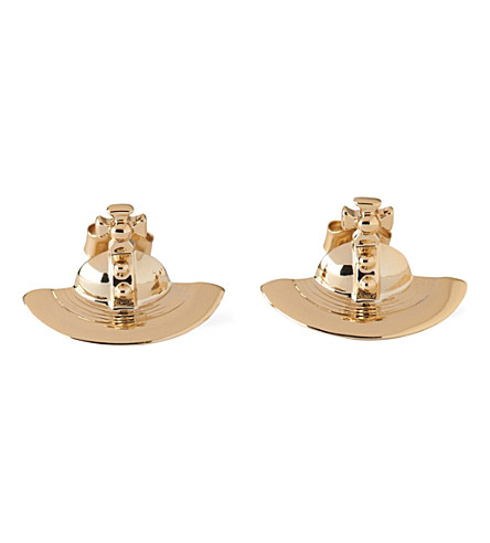 VIVIENNE WESTWOOD JEWELLERY Solid orb stud earrings (Gold
