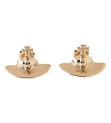 VIVIENNE WESTWOOD JEWELLERY Solid orb stud earrings (Gold