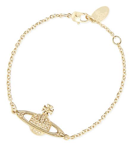 VIVIENNE WESTWOOD JEWELLERY Bas relief diamanté orb bracelet (Gold