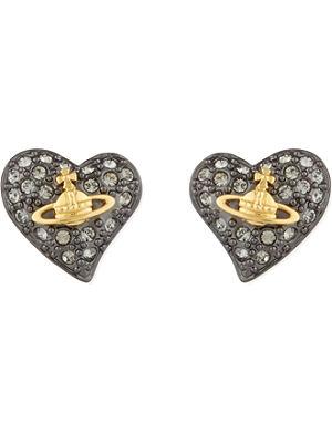 VIVIENNE WESTWOOD JEWELLERY Tiny diamanté heart studs
