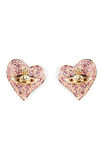 VIVIENNE WESTWOOD Diamante heart stud earrings