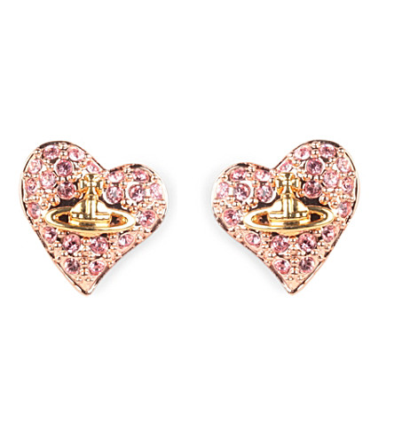 VIVIENNE WESTWOOD JEWELLERY Heart stud earrings (Pink