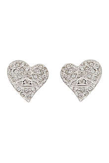 VIVIENNE WESTWOOD Diamanté heart stud earrings