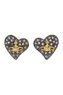VIVIENNE WESTWOOD Diamanté heart studs