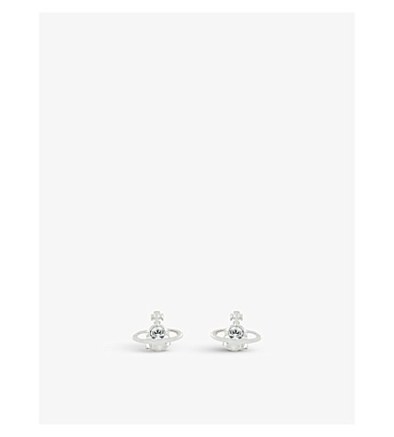 VIVIENNE WESTWOOD JEWELLERY Nano Solitaire earrings (Crystal/rhodium