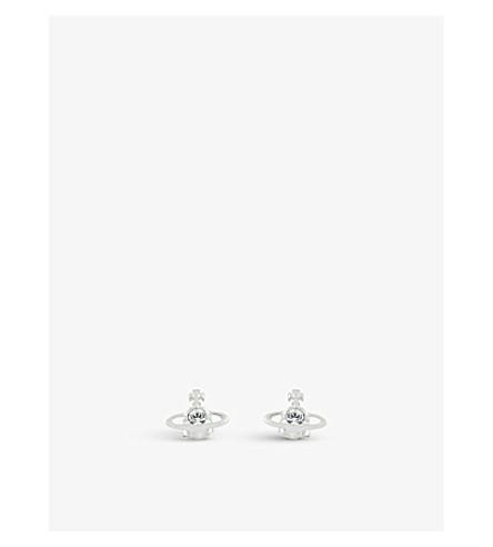 VIVIENNE WESTWOOD JEWELRY Nano Solitaire earrings (Crystal/rhodium