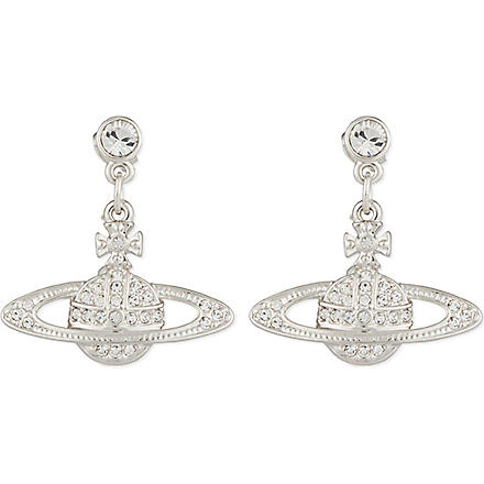 VIVIENNE WESTWOOD Silver orb pendant earrings (Silver