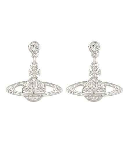 VIVIENNE WESTWOOD JEWELLERY Bas relief orb pendant earrings (Silver