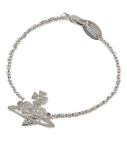 VIVIENNE WESTWOOD JEWELLERY Reverse heart bracelet (Silver/crystal