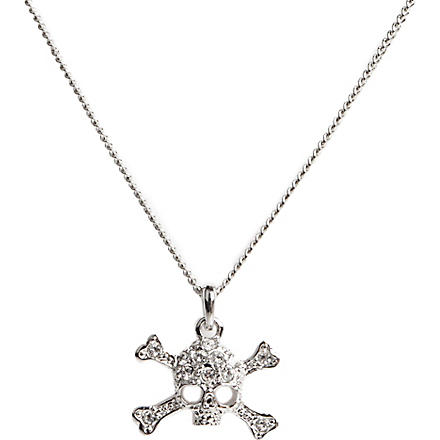 VIVIENNE WESTWOOD Diamante skull mini pendant necklace (Silver