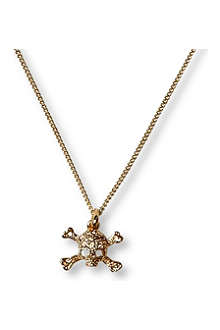 VIVIENNE WESTWOOD Diamante skull mini pendant necklace