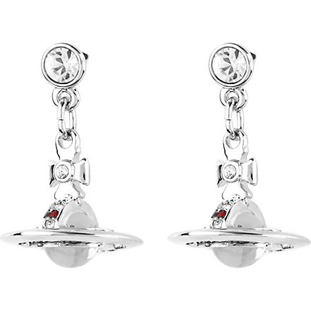 VIVIENNE WESTWOOD JEWELLERY Classic 3D orb earrings (Silver