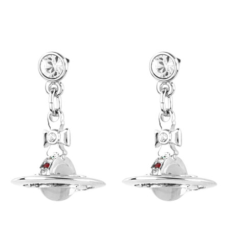 VIVIENNE WESTWOOD JEWELLERY Classic 3D orb earrings (Silver