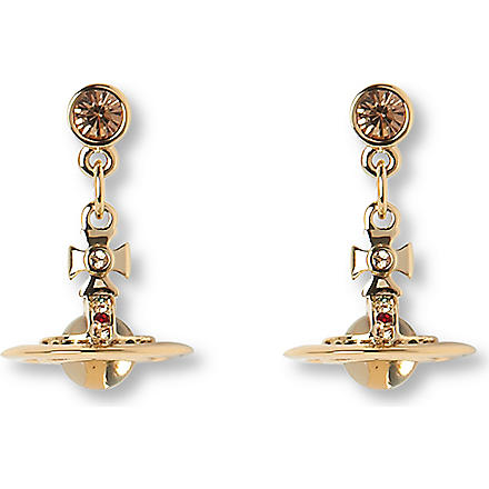 VIVIENNE WESTWOOD Tiny orb drop earrings (Gold