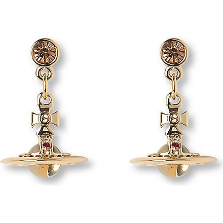 VIVIENNE WESTWOOD JEWELLERY Tiny orb drop earrings (Gold