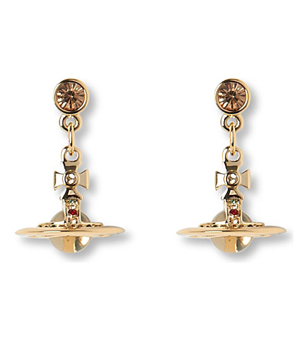 VIVIENNE WESTWOOD JEWELLERY Tiny orb drop earrings (Gold