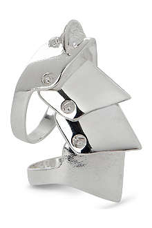 VIVIENNE WESTWOOD Armour sterling-silver ring