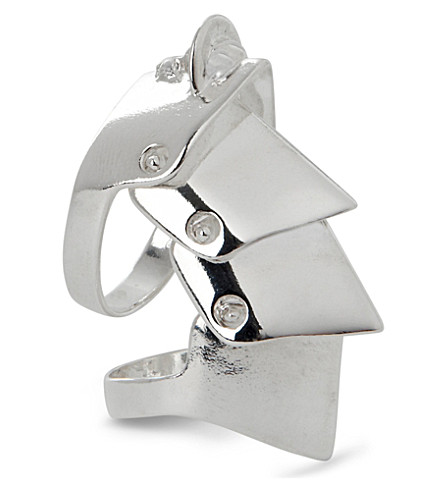 VIVIENNE WESTWOOD JEWELLERY Armour sterling-silver ring (Silver