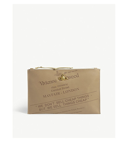 VIVIENNE WESTWOOD Anglomania Bessie leather pouch (Beige