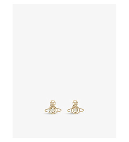 VIVIENNE WESTWOOD JEWELLERY Nora stud earrings (Gold