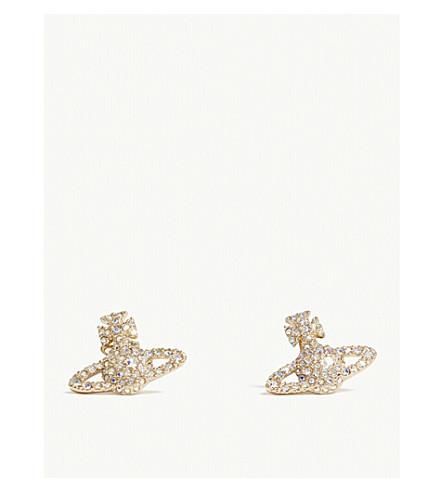 VIVIENNE WESTWOOD JEWELLERY Grace Bas Relief stud earrings (Aurore+boreale/gold