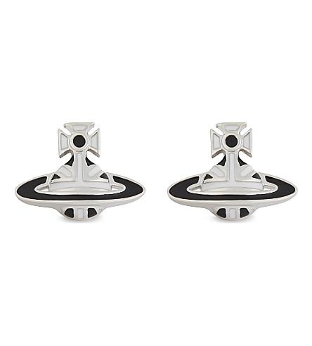 VIVIENNE WESTWOOD JEWELLERY Orb stud earrings (Black/white