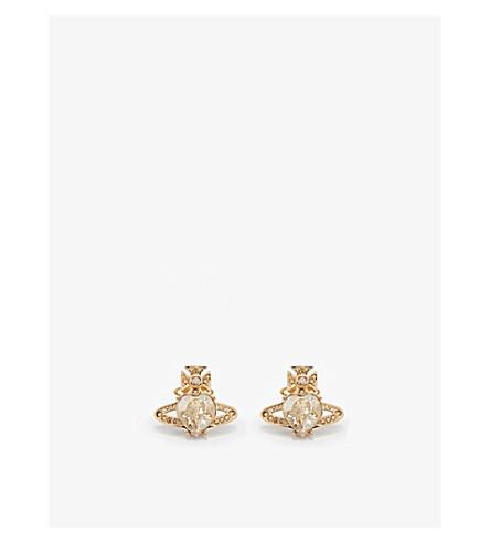VIVIENNE WESTWOOD JEWELLERY Ariella crystal heart orb earrings (Crystal/gold
